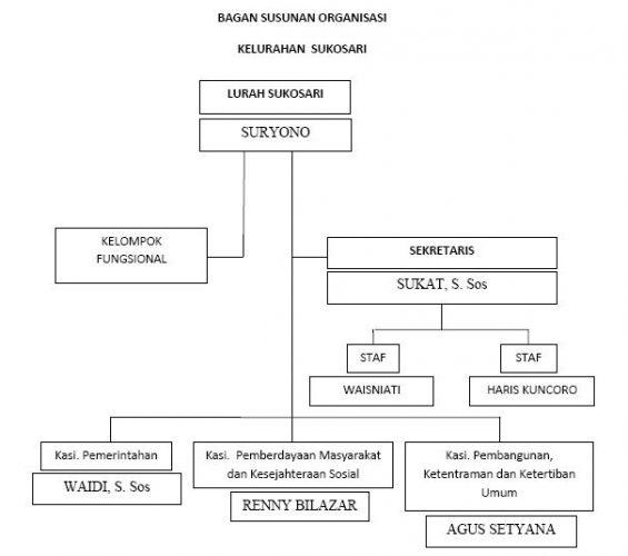 Struktur Organisasi Kelurahan Sukosari
