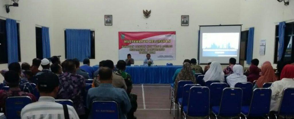 Acara pertemuan Musyawarah BPNT kelurahan SUKOSARI